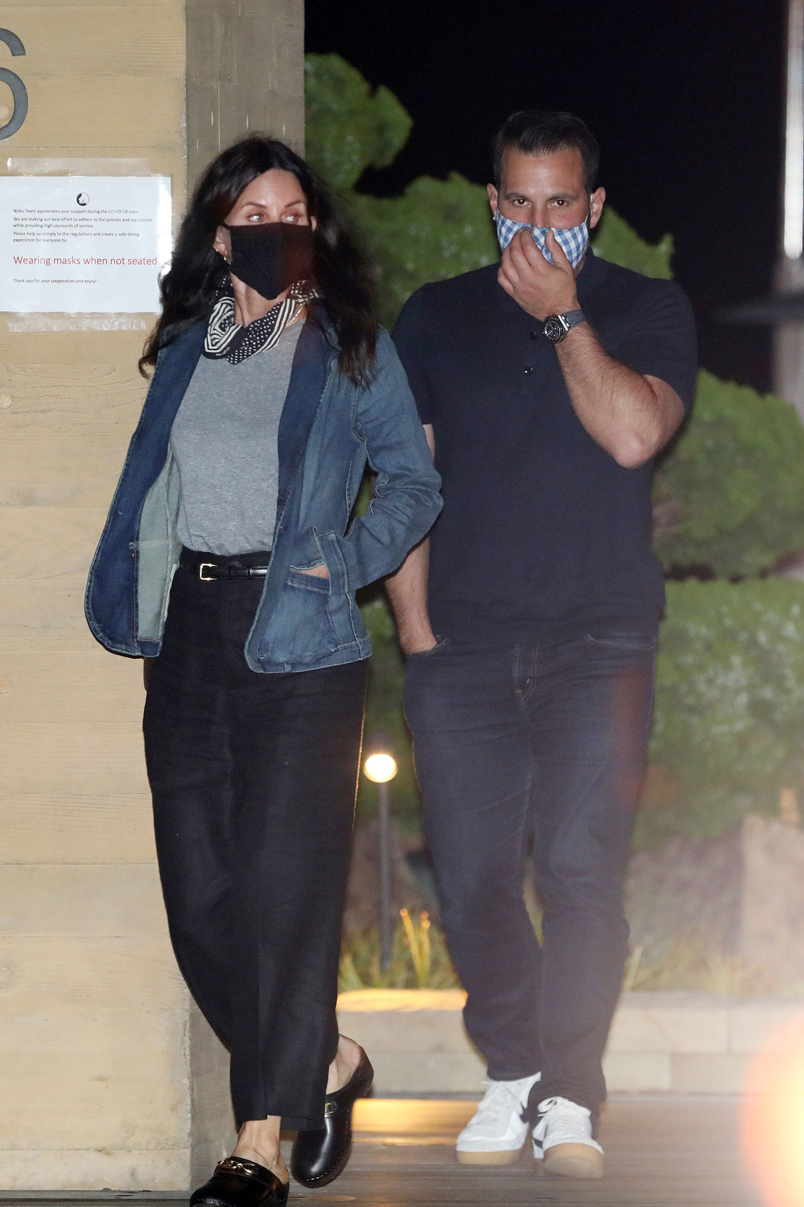 Courteney Cox wears Sydne Summer face mask while out and about
