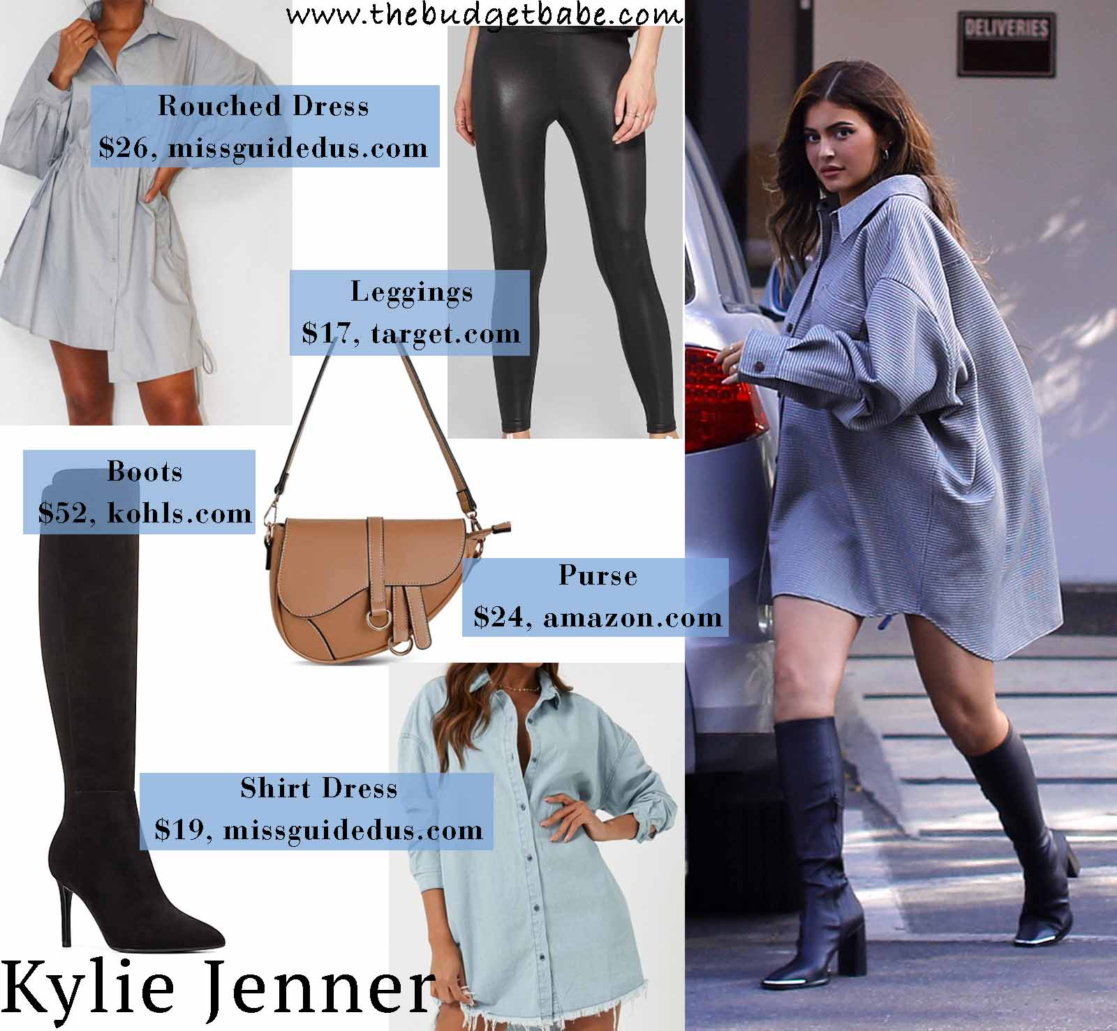 Kylie's feminine take on menswear