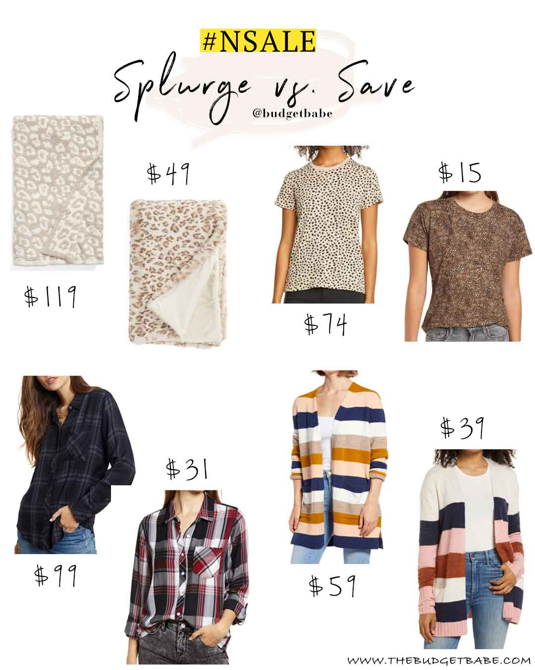 Nordstrom Anniversary Sale 2020 - Splurge vs Save Finds