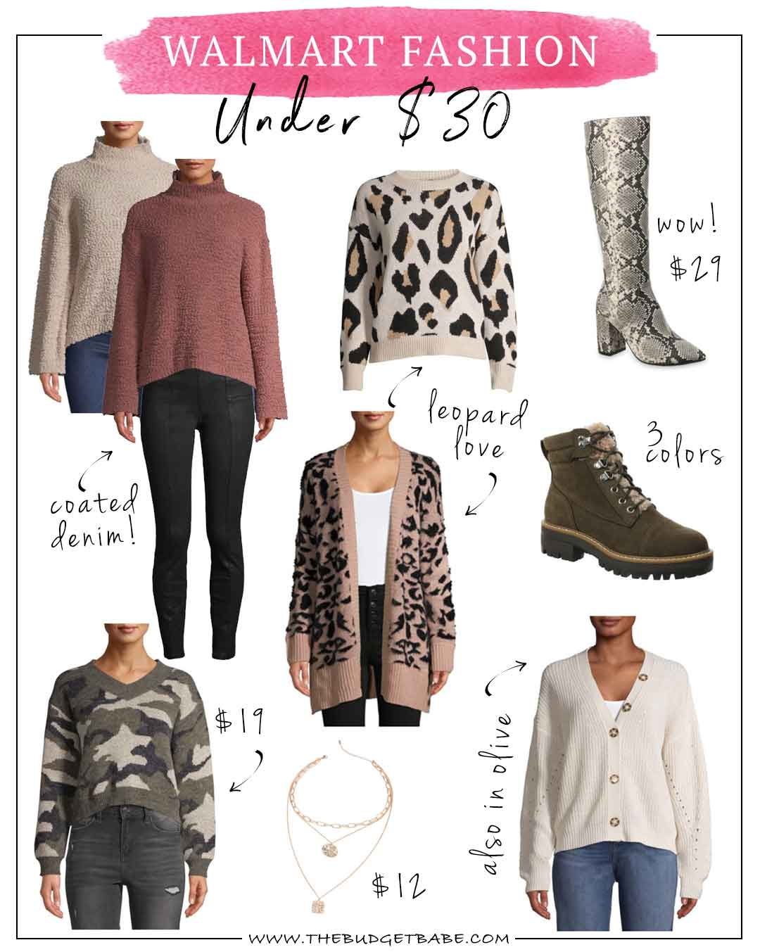 Walmart Fall Finds under $30! Gonna need that leopard cardigan