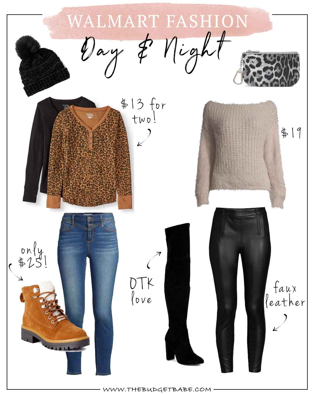 Walmart Fashion Outfit Ideas for Fall Day to Night Under $100 Total!
