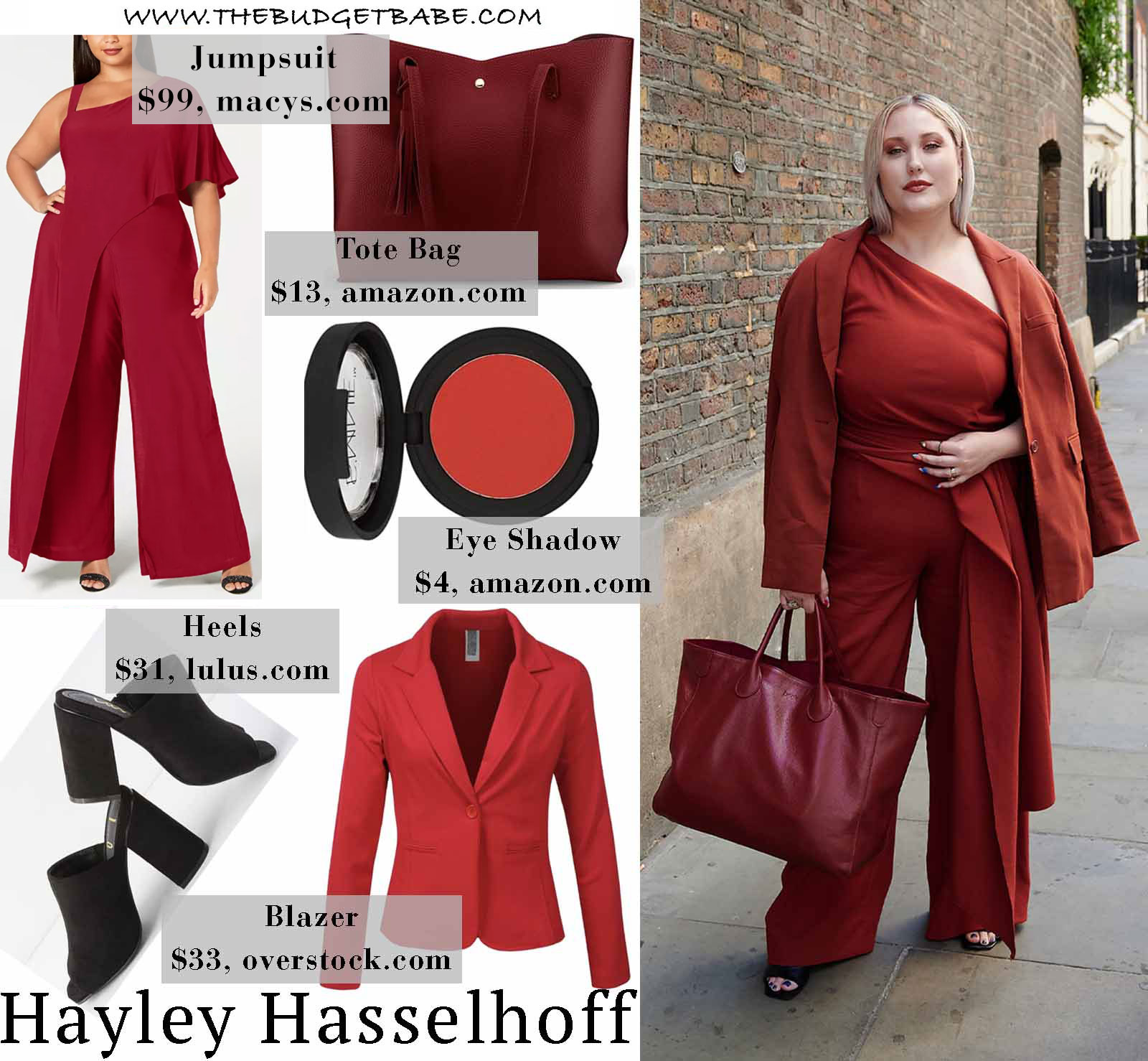 Get the Look: Hayley Hasselhoff's One Shoulder Draped Jumpsuit and Matching Blazer