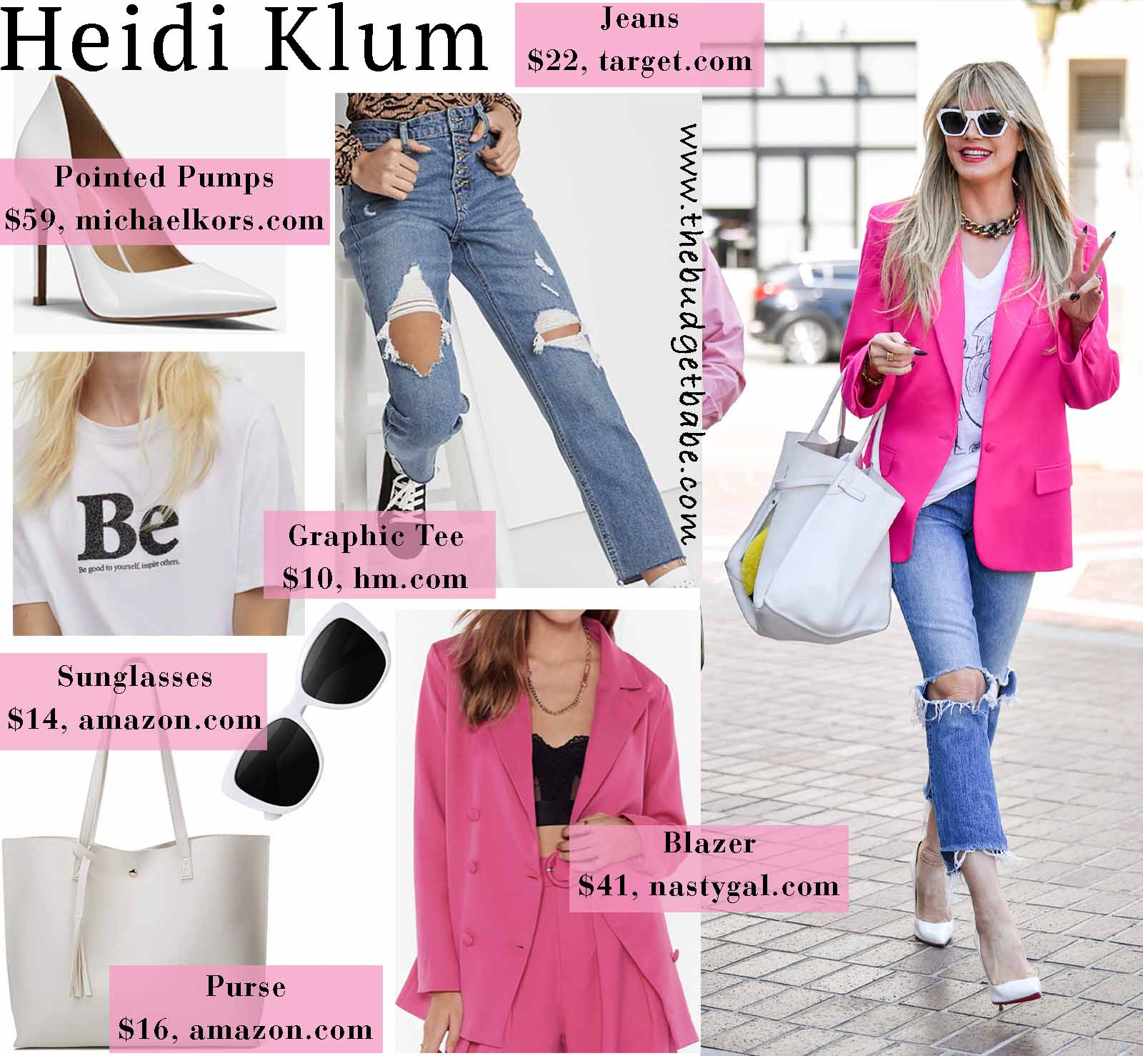 Heidi's street style stands out!