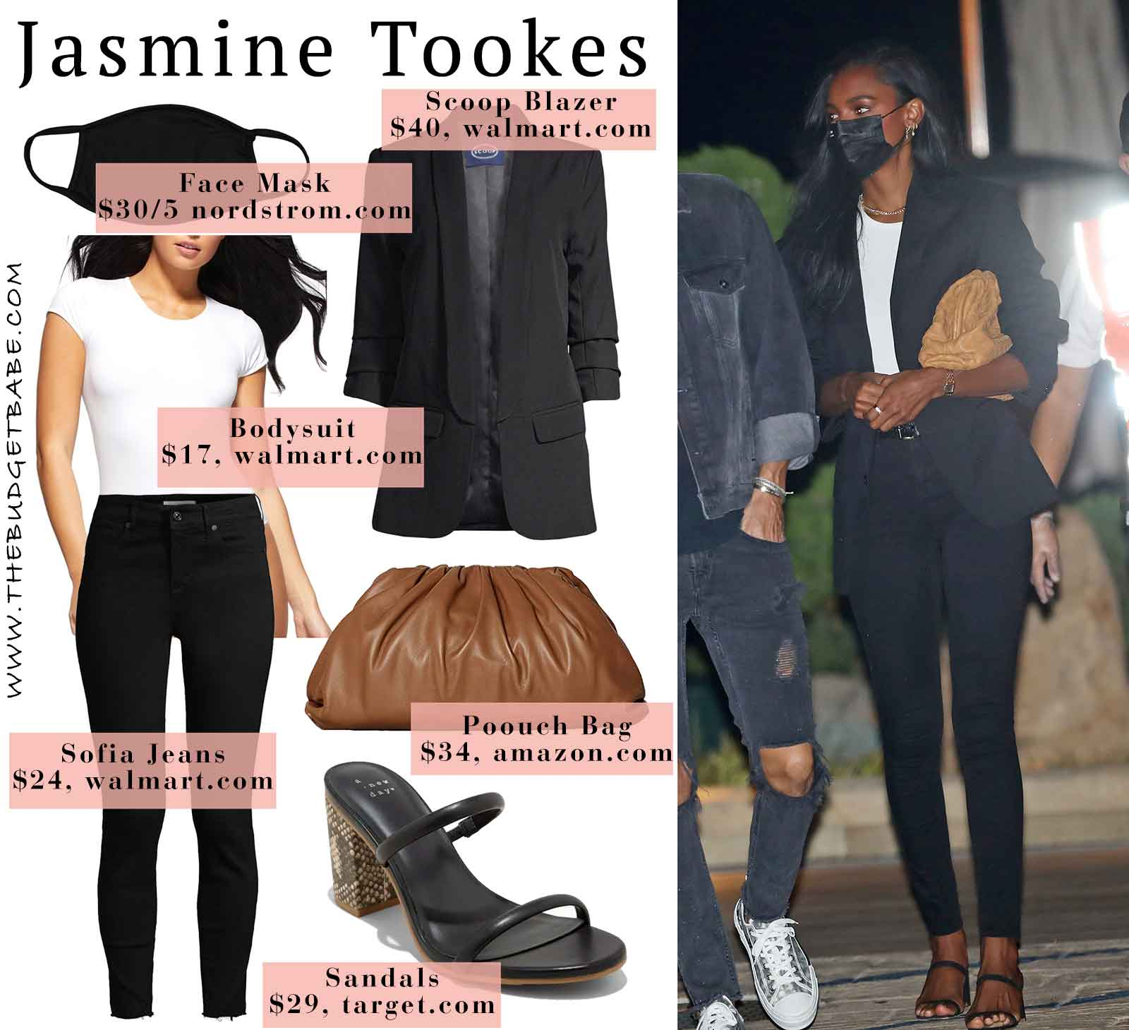 Jasmine Tookes look for less // Celebrity style for less outfit ideas