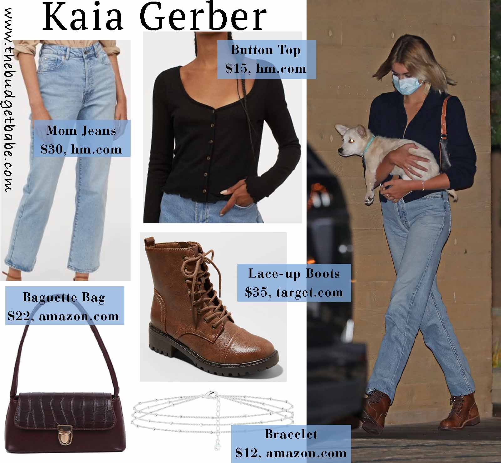 Kaia Gerber is chic in 90's style