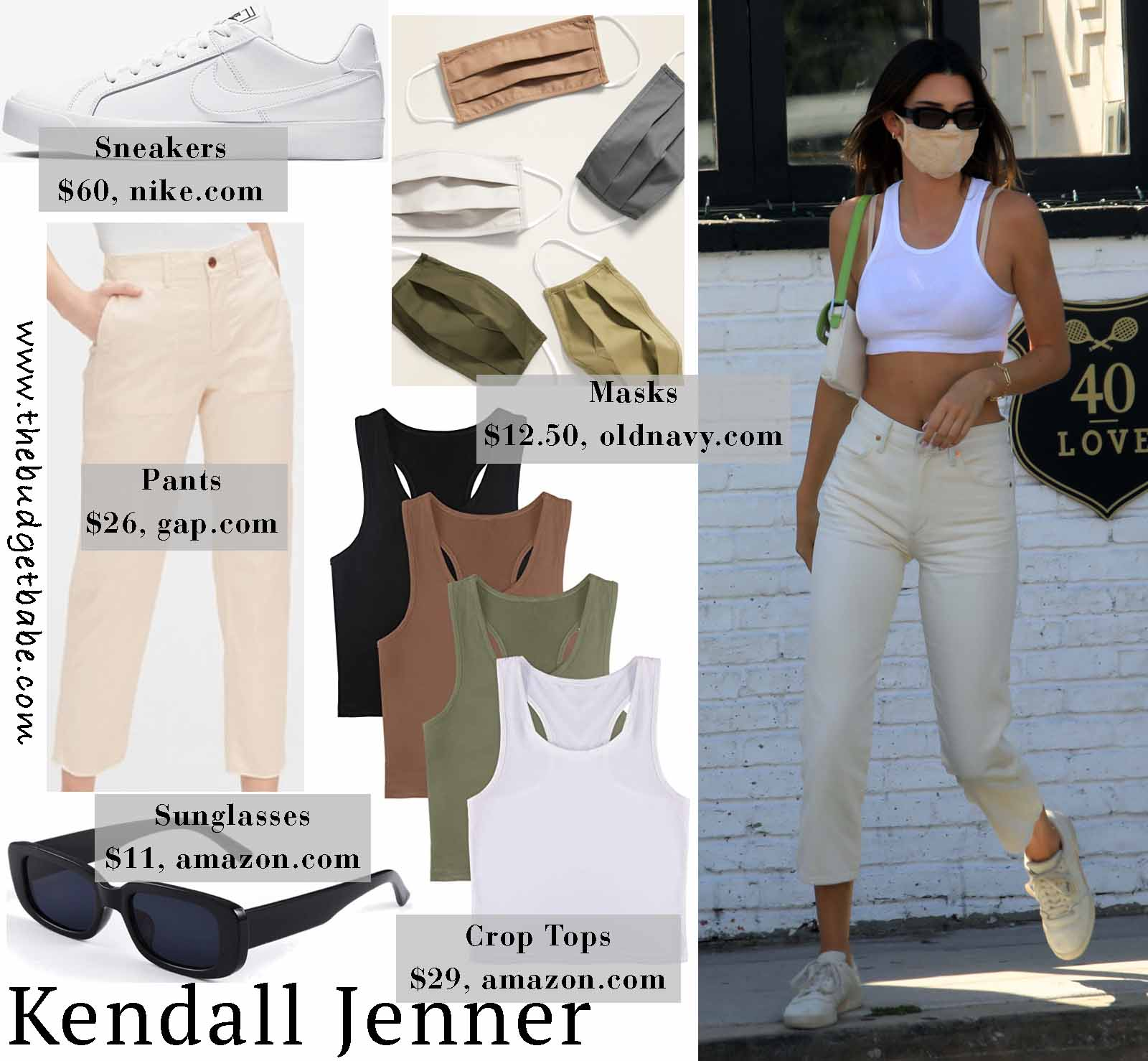Kendall rocks a sporty crop top!