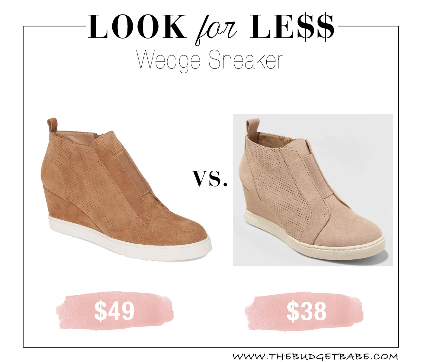 Linea Paolo sneaker wedge look for less