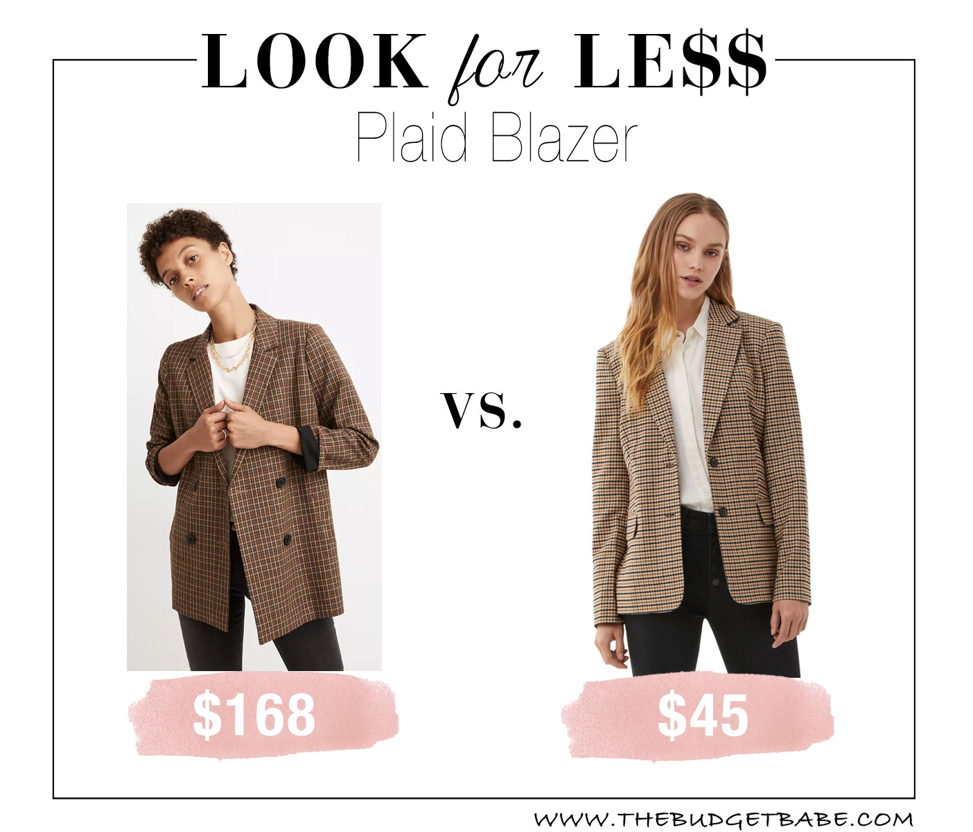Check blazer trend from Madewell, Walmart & Target