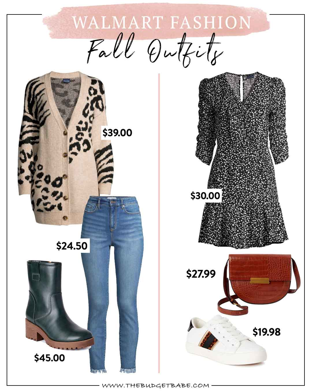 Walmart Fashion | Fall outfits on a budget with Dianna Baros, The Budget Babe blogger