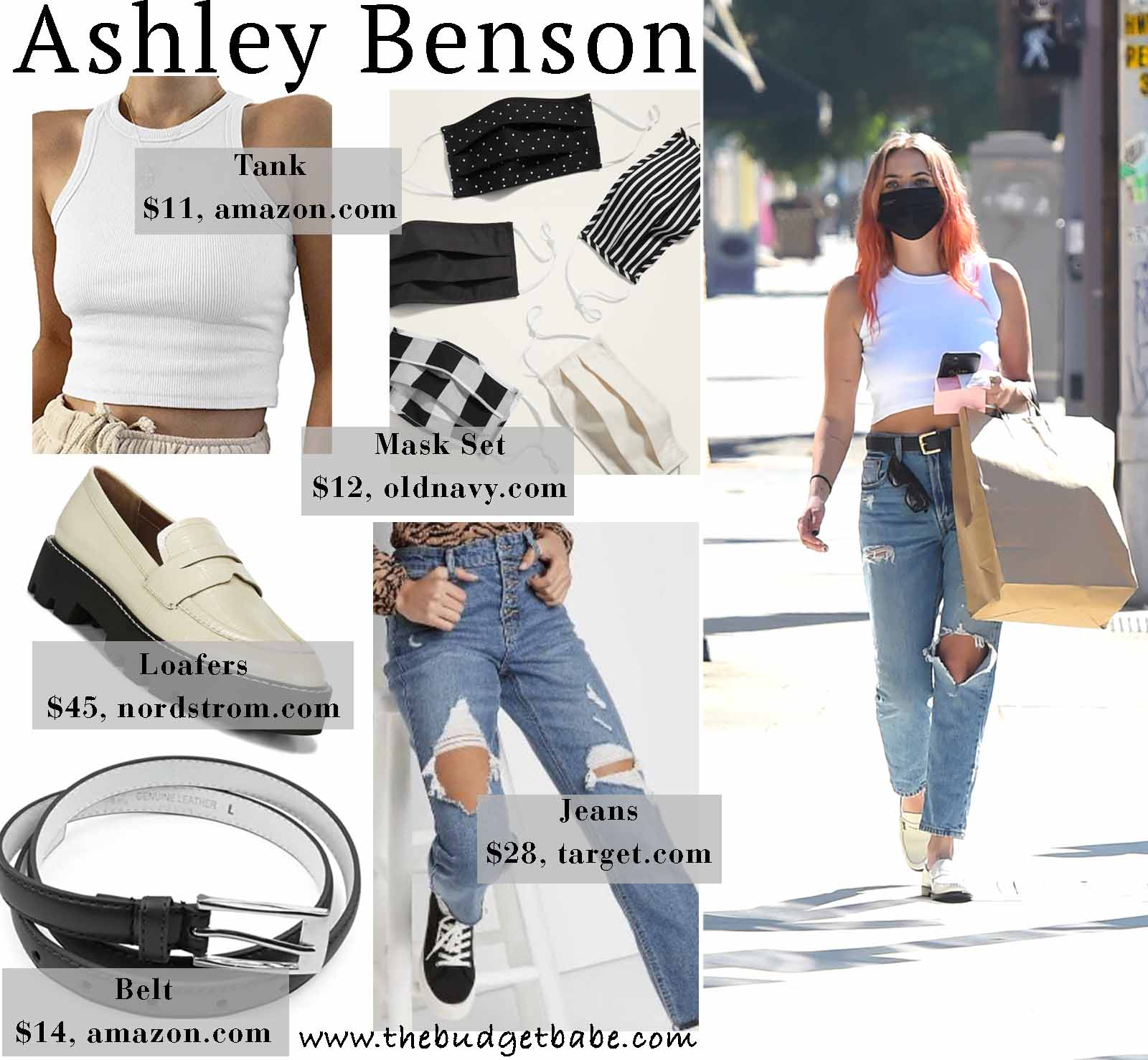 Ashley Benson rocks a tank and jeans.