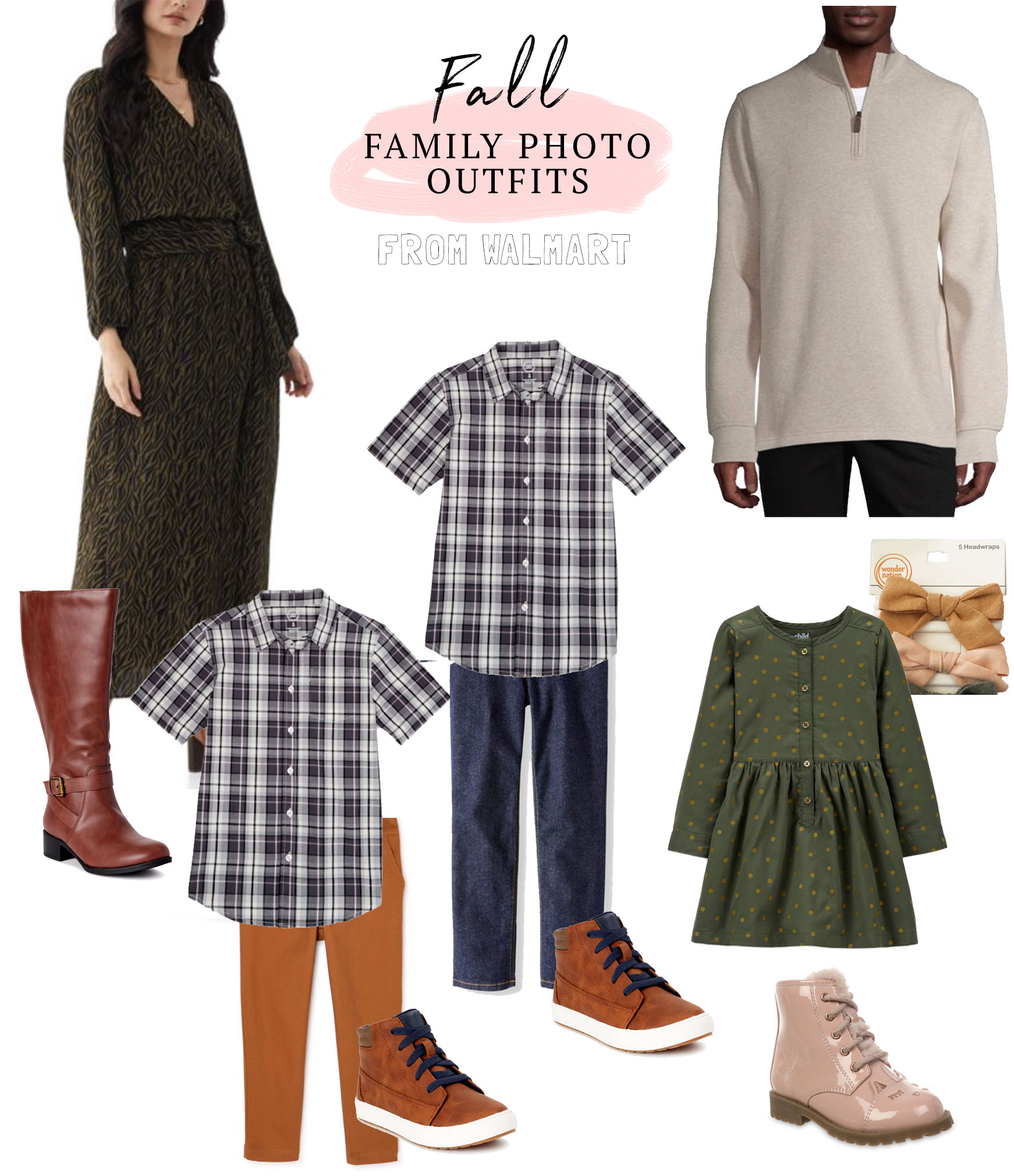Fall Family Photos Outfit Ideas on a budget! All from Walmart!