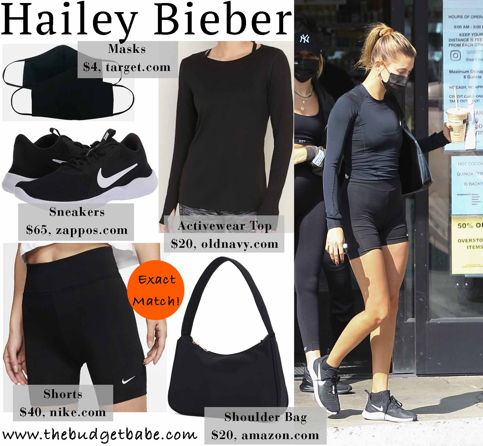 Hailey is chic in Nike.