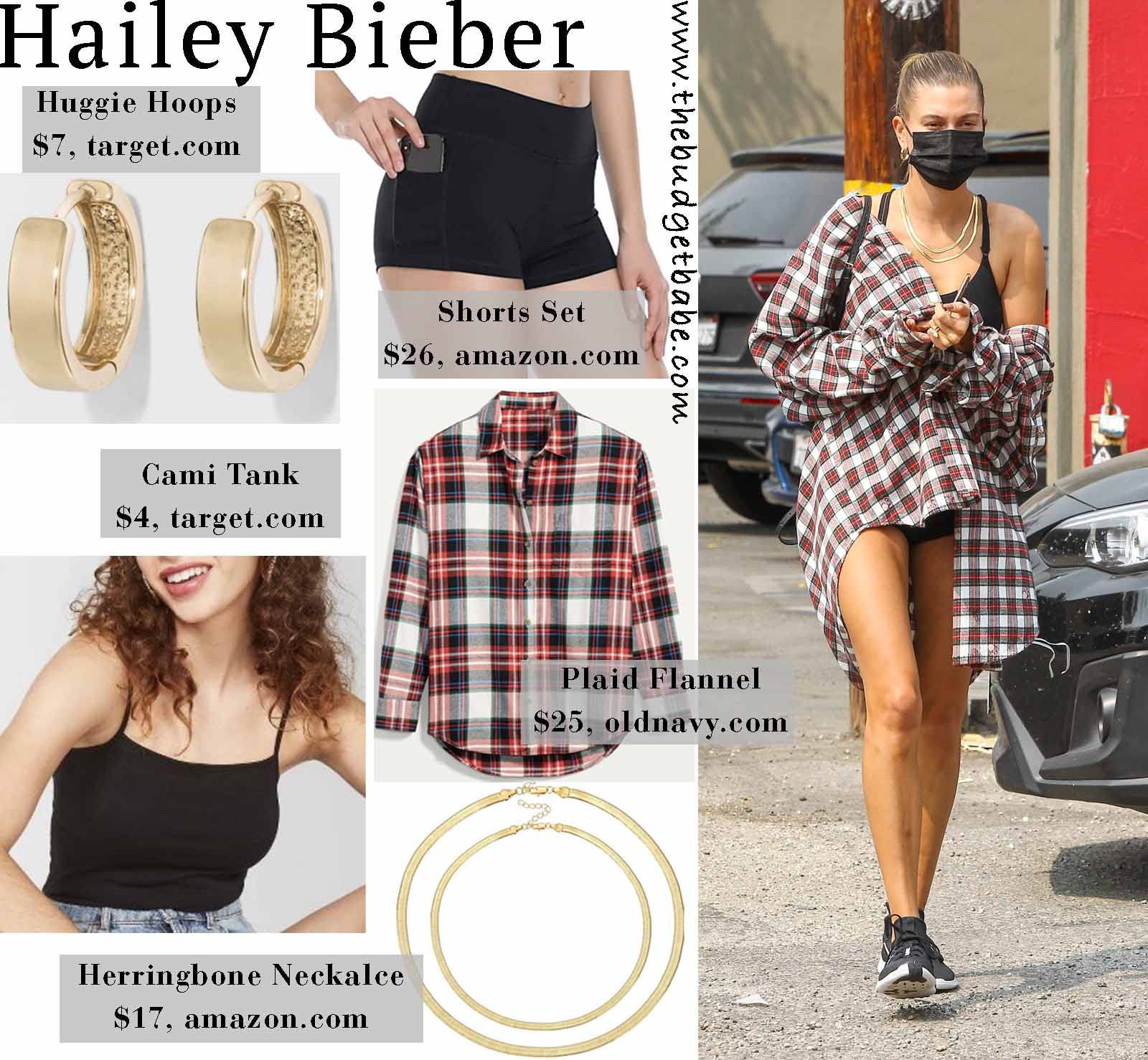 Hailey throws on plaid flannel!
