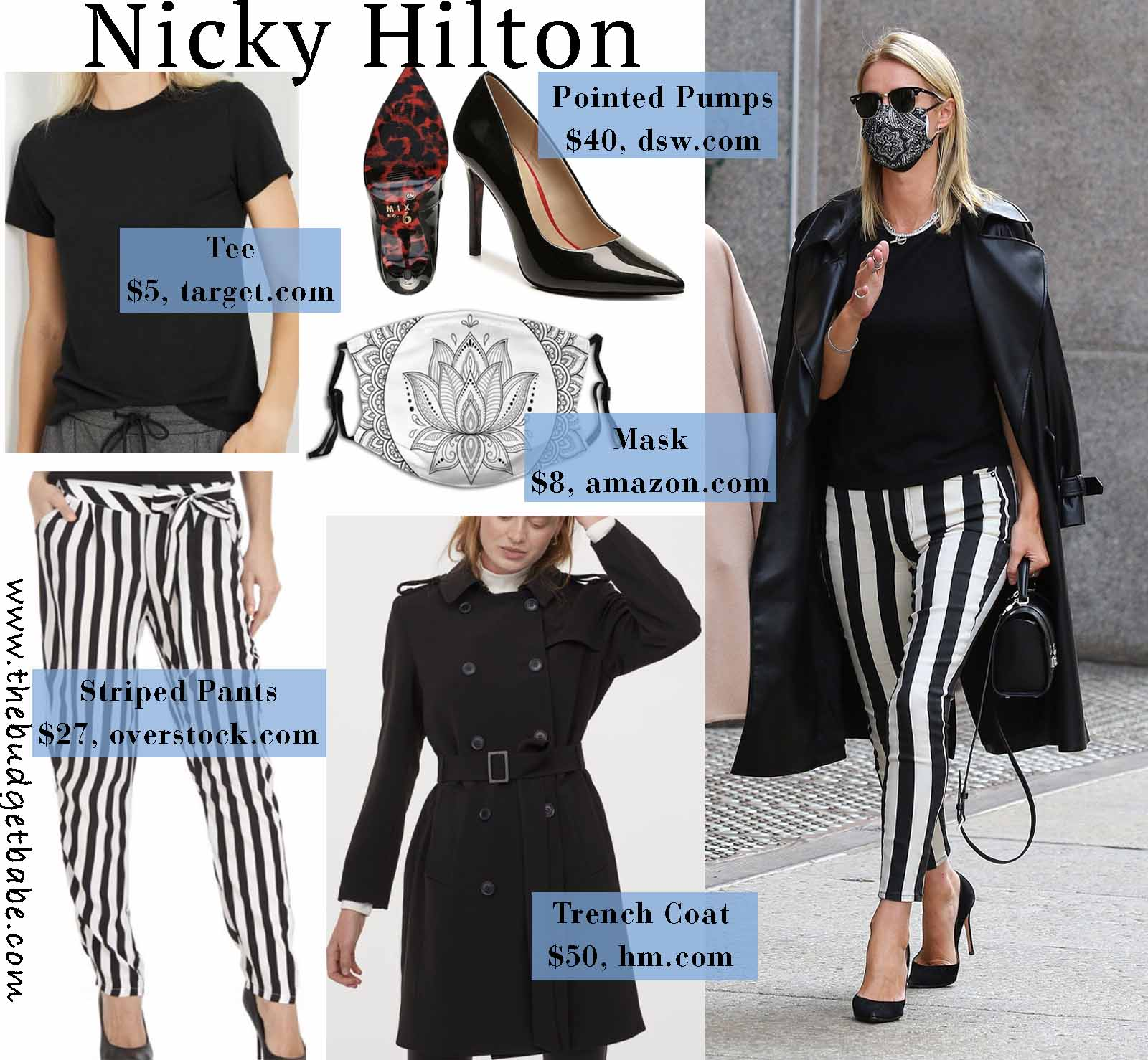 Nicky Hilton rocks bold stripes.