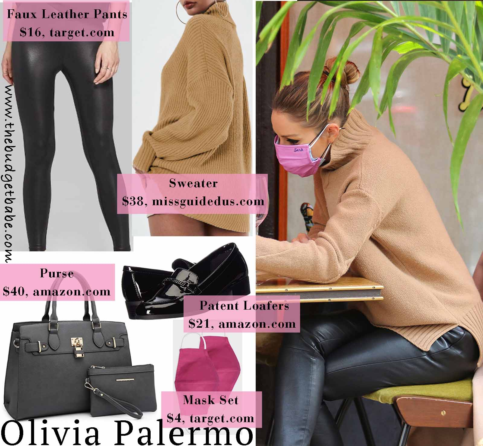 Oliva is chic in an oversized sweater.