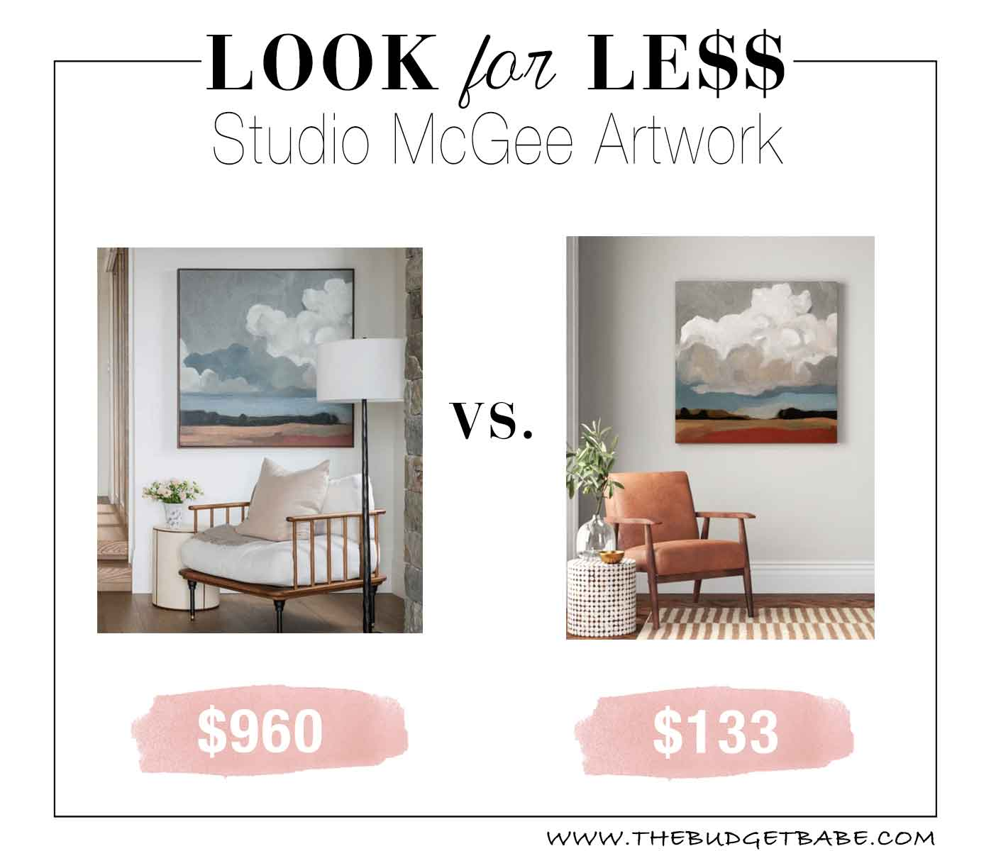 Studio McGee cloud formation artwork - this painting on Joss & Main looks so similar!