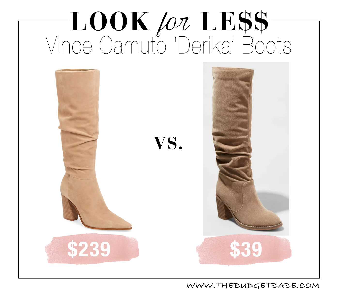 Vince Camuto Derika boots are so gorgeous but love that Target look for less!