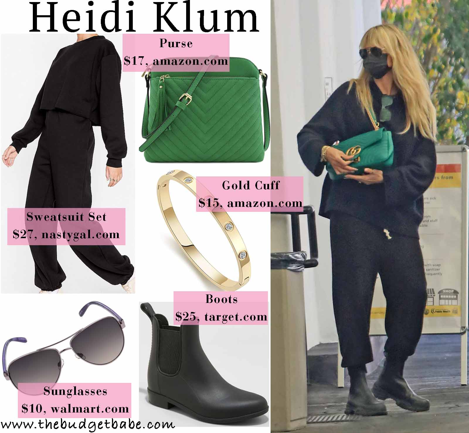 Heidi makes sweatpants chic!
