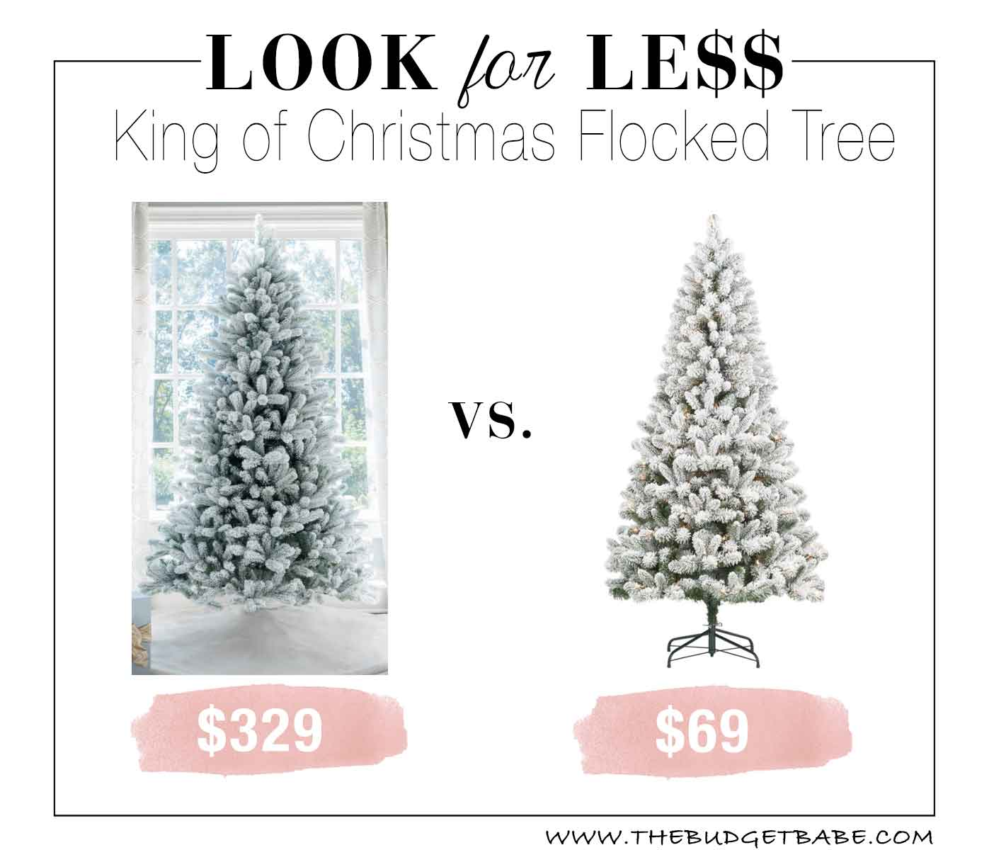 Flocked trees for Christmas, splurge or save