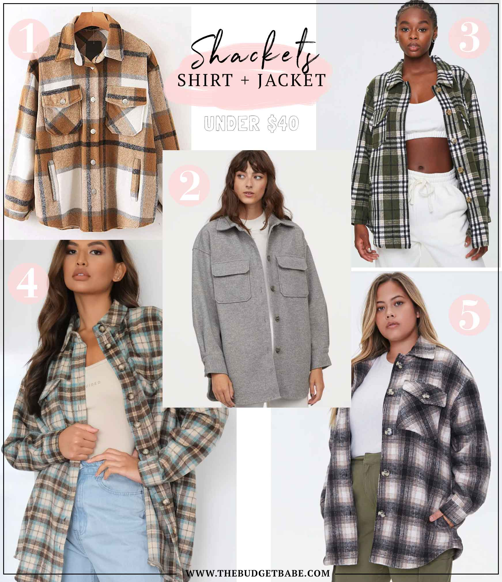 Try the shacket trend! The best of both worlds, under $40