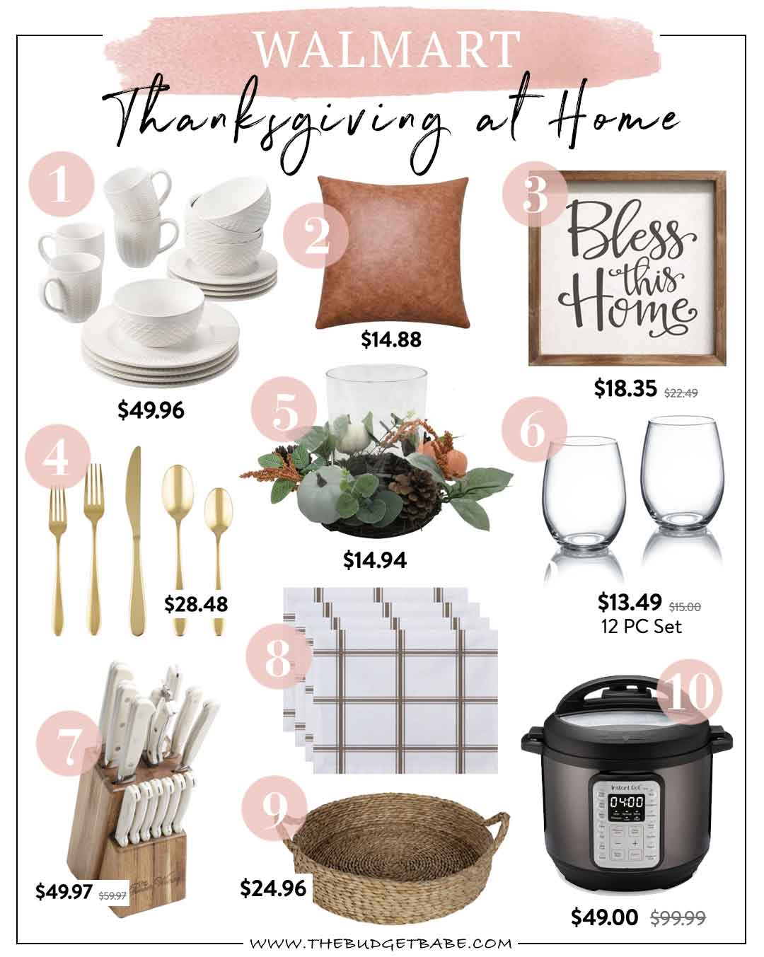 Walmart Home Thanksgiving Finds On A Budget Blog