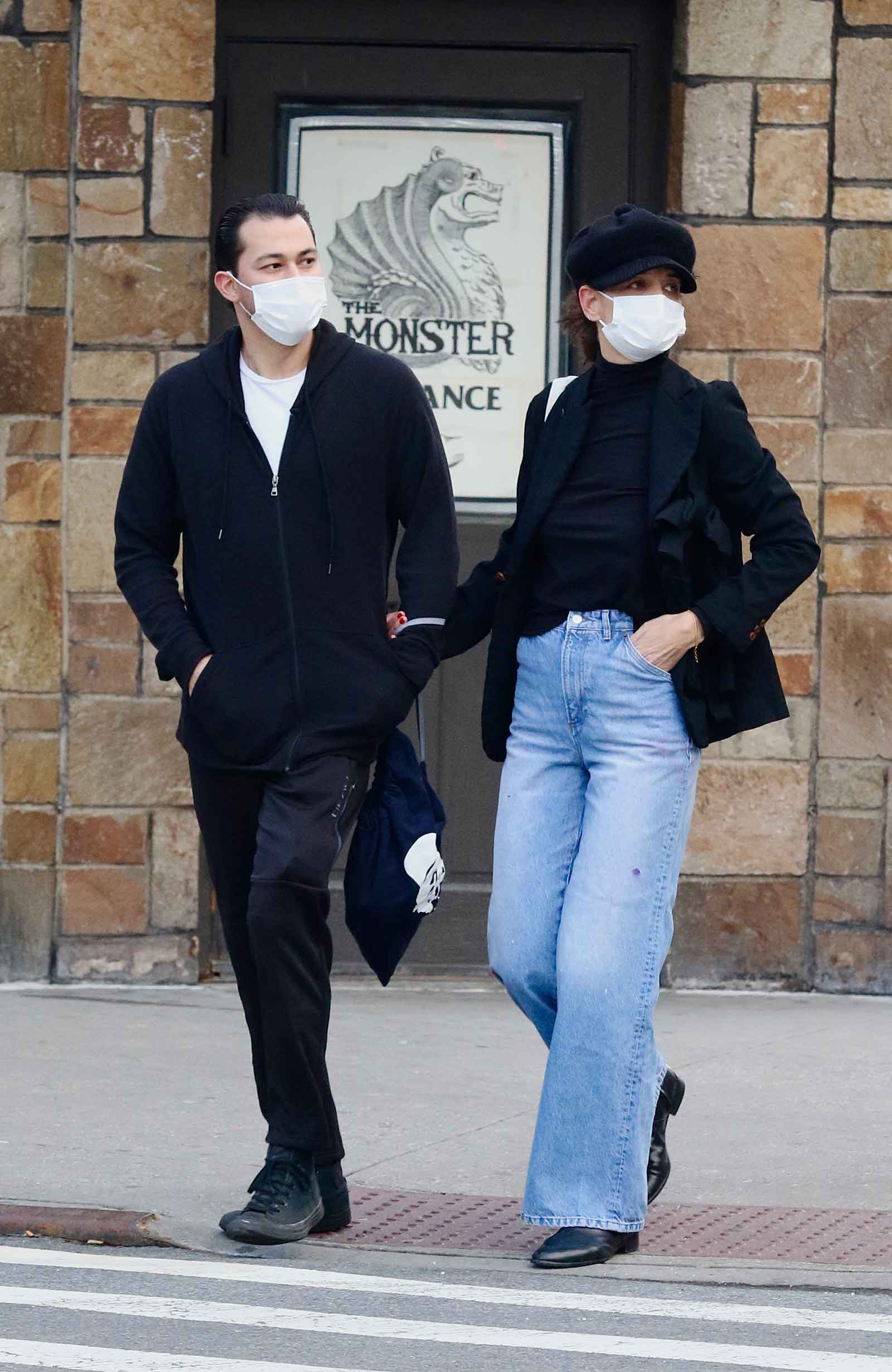 Katie Holmes with boyfriend in NYC