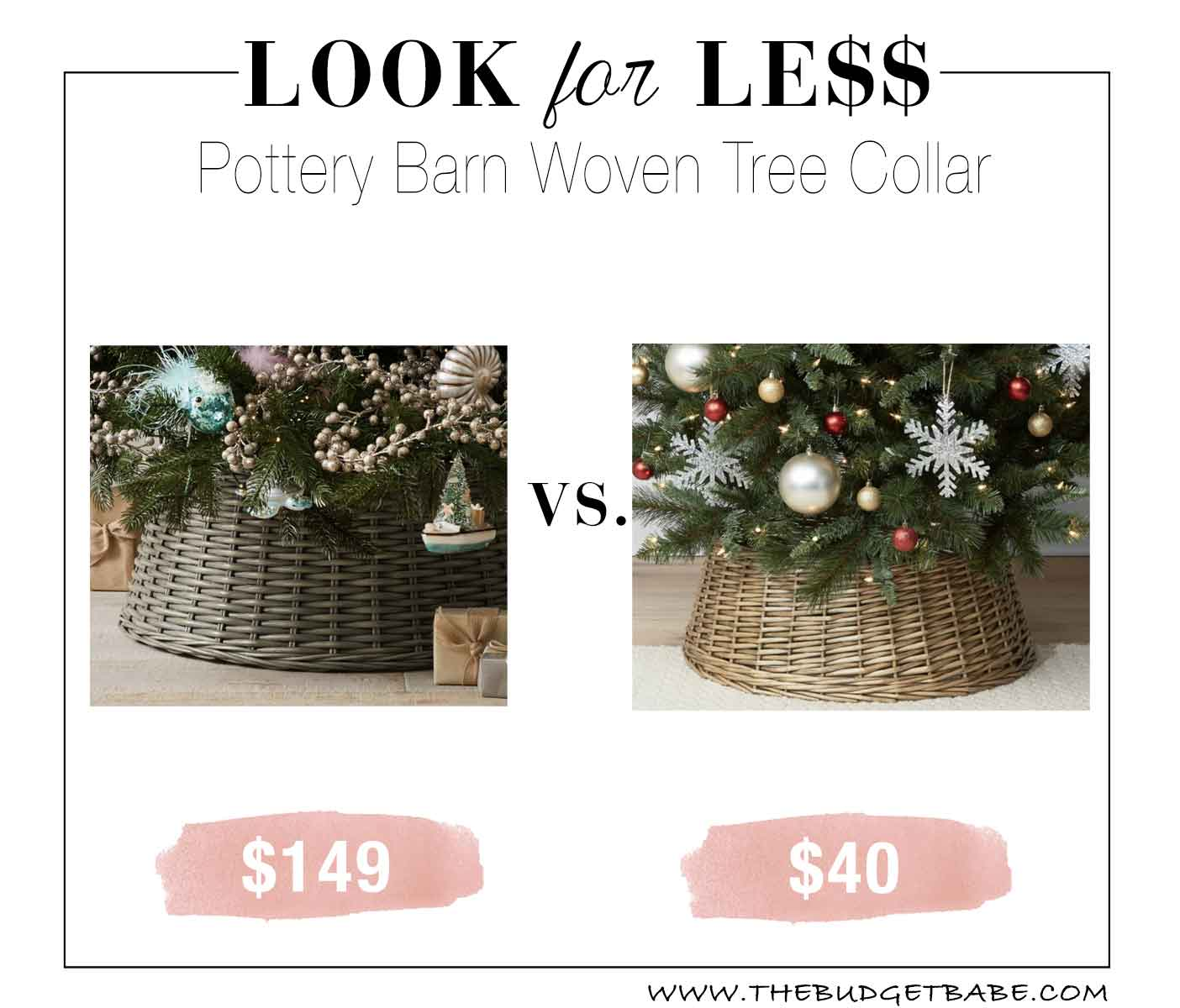 Look for Less: Pottery Barn Tree Collar