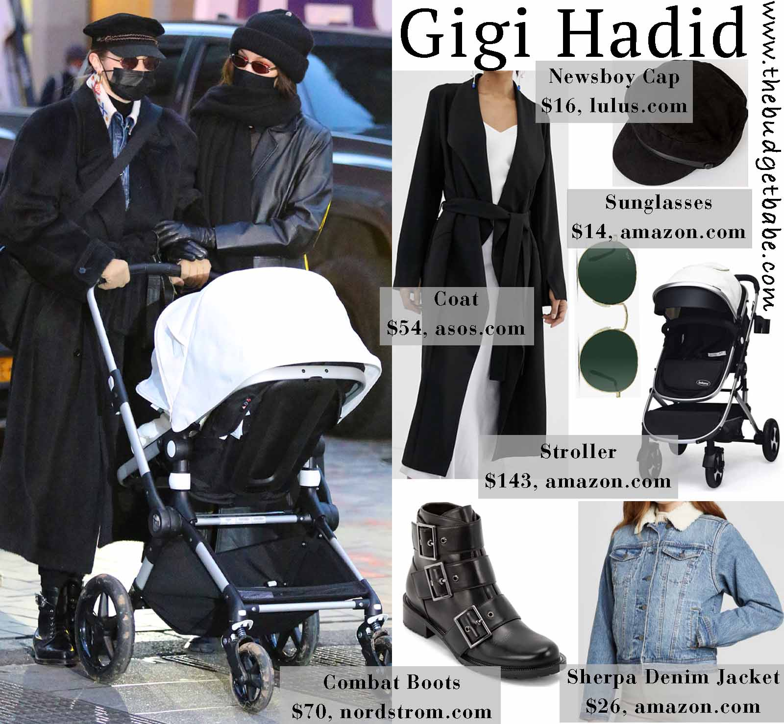 Gigi Hadid's Bugaboo stroller is so chic.