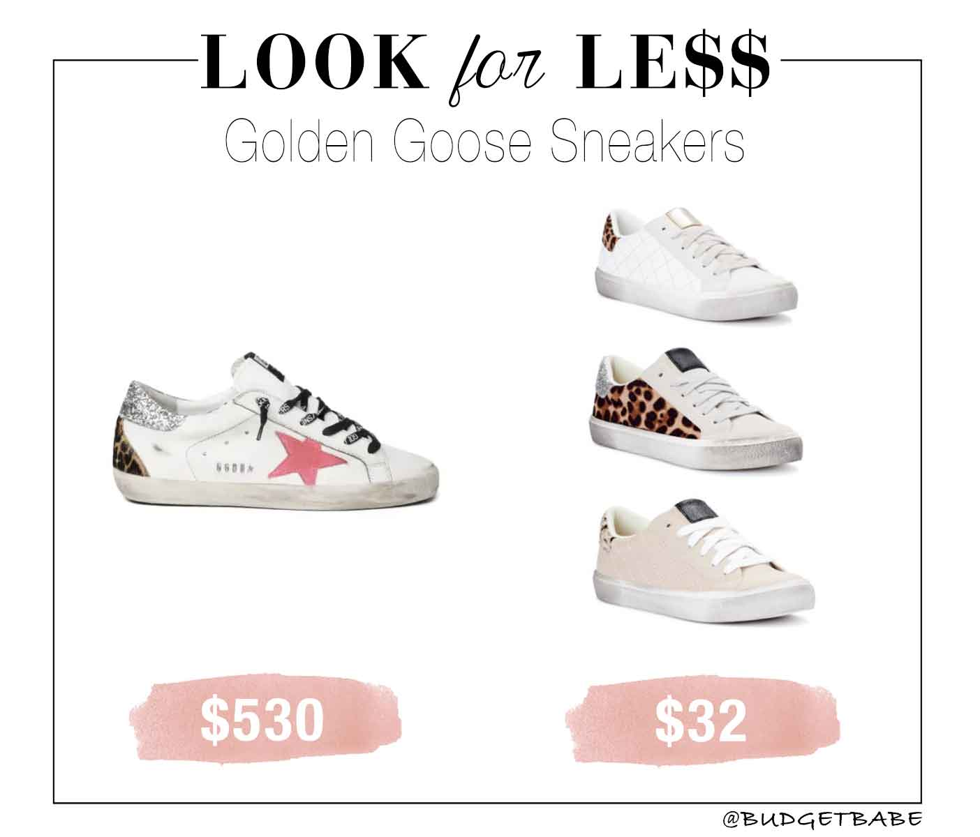 Golden Goose sneakers look for less