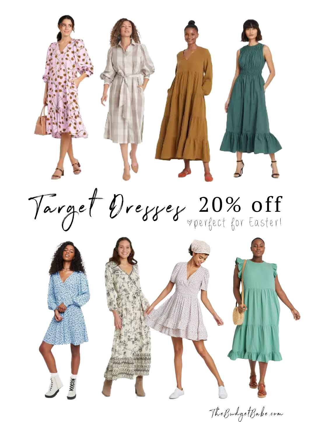 Target dresses on sale, perfect for Easter and spring!