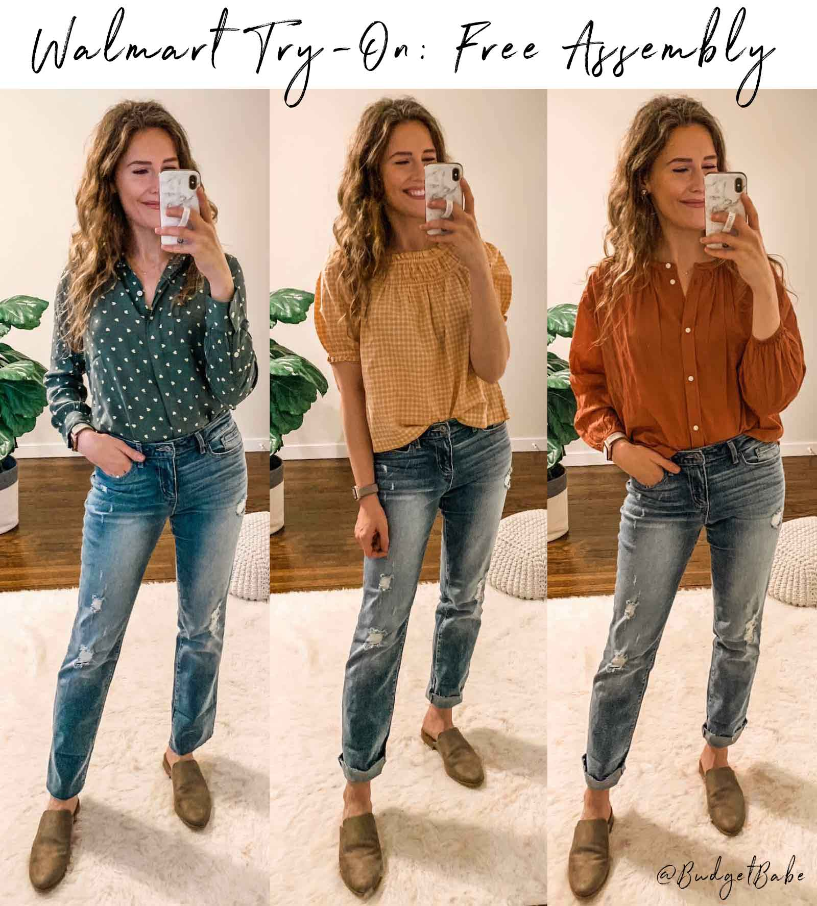 Walmart Try On-Free Assembly - Madewell vibes for less!