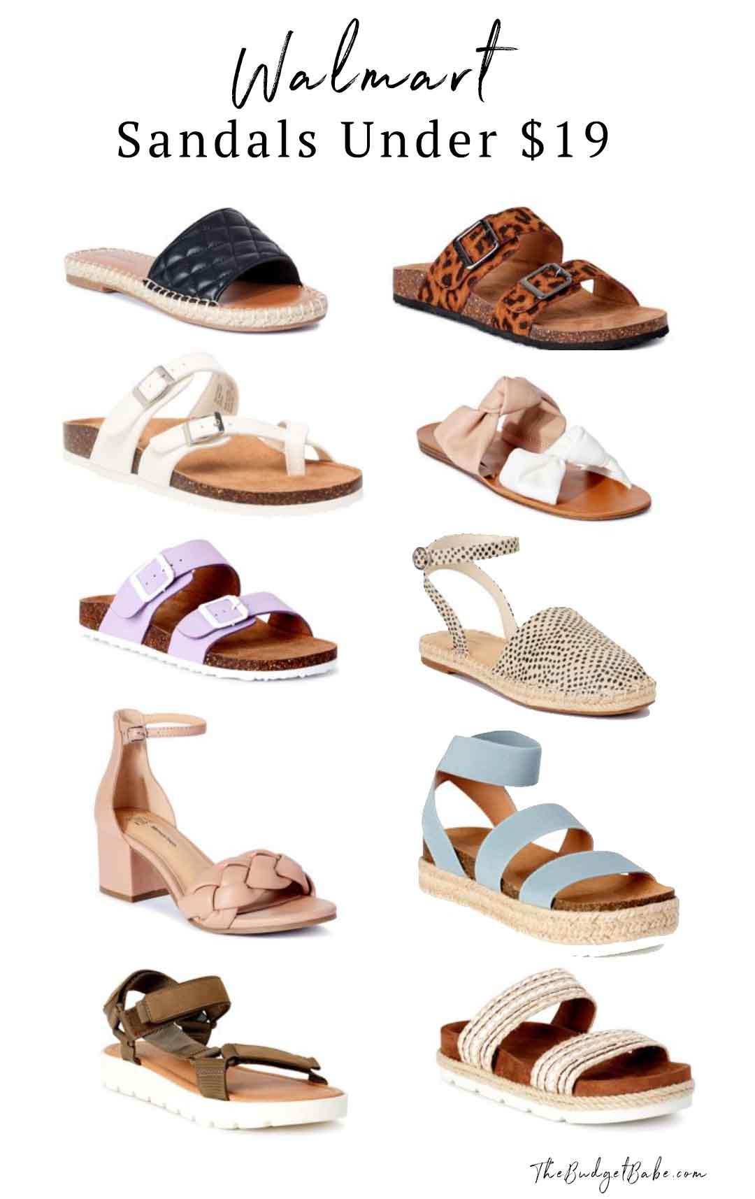 Walmart sandals under $19! New for 2021