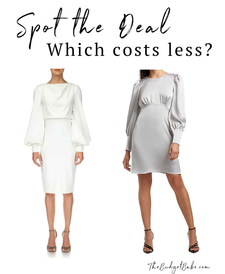 Balloon sleeve dress look for less