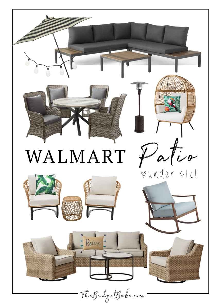 Walmart Patio Furniture on a budget
