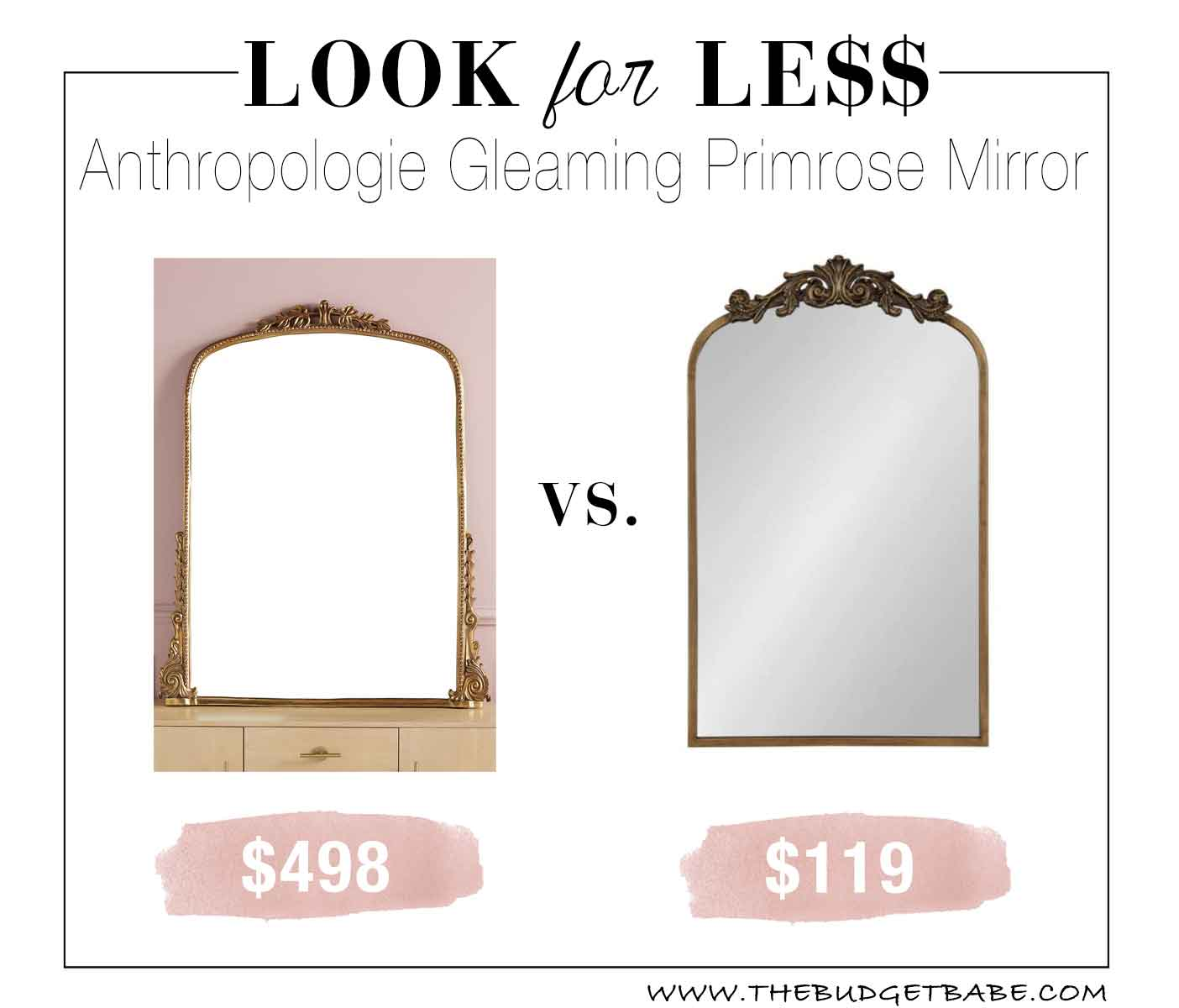 Anthropologie Gleaming Primrose Mirror Dupe