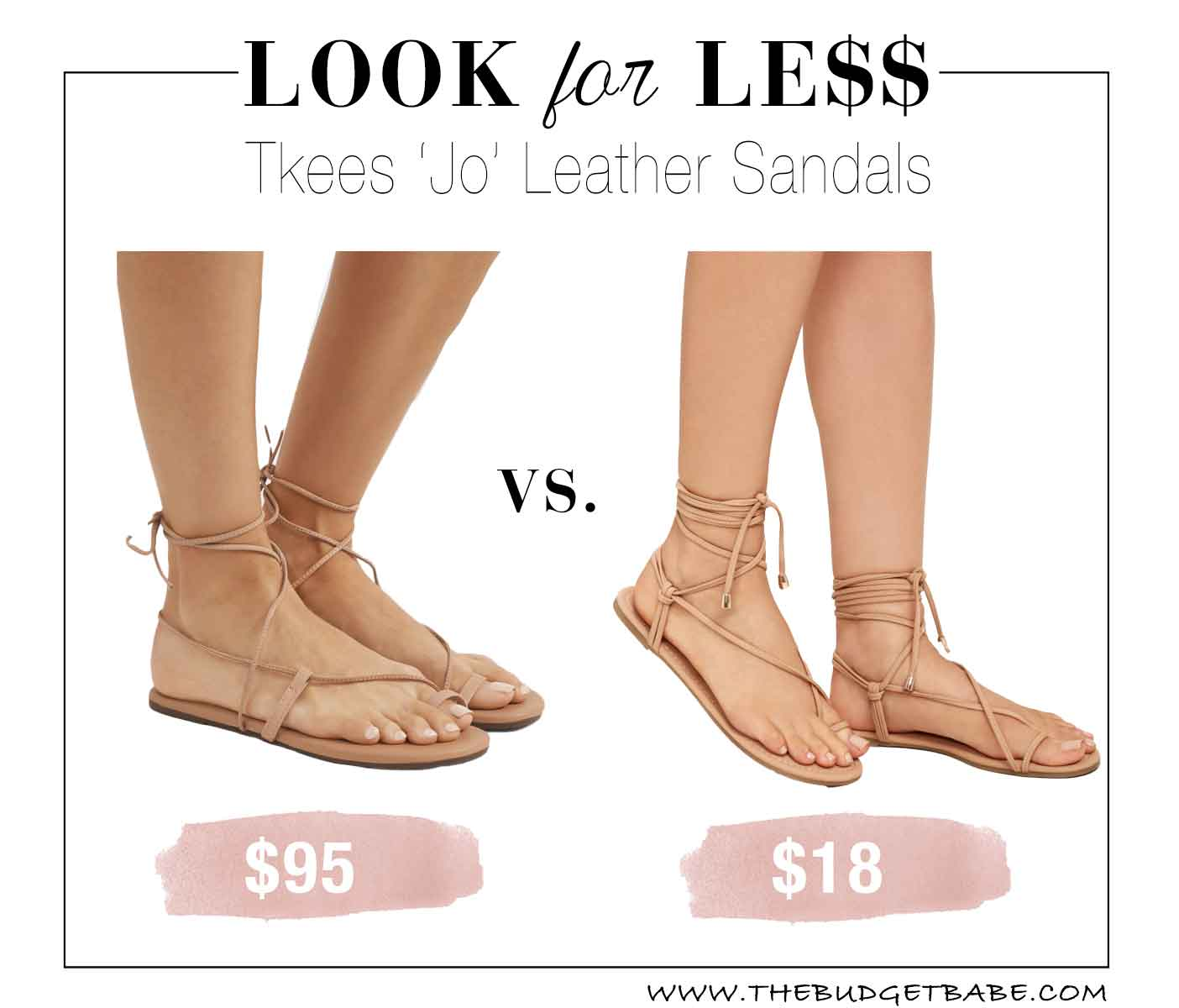 Look for Less: Tkees Sandals