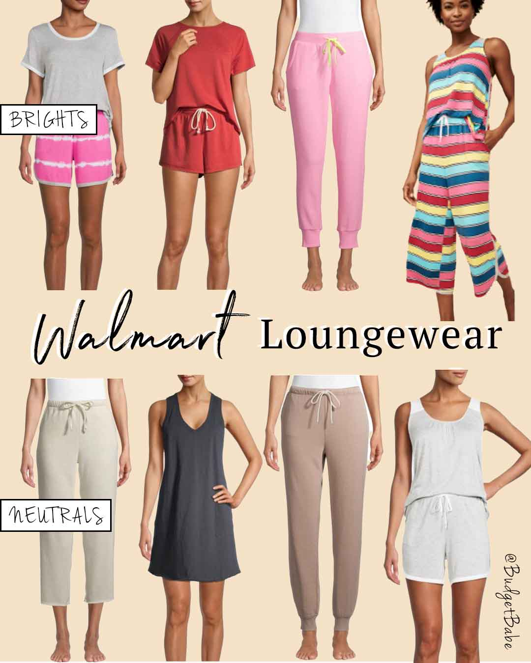 Walmart Loungewear and PJ sets on a budget, new from spring and summer