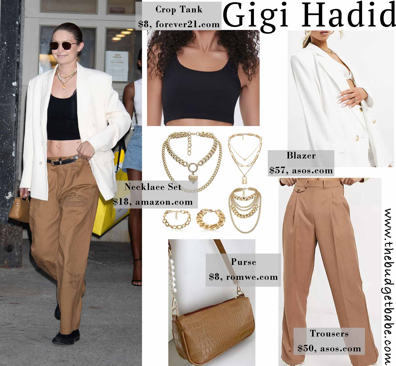 Gigi is so chic in this blazer!