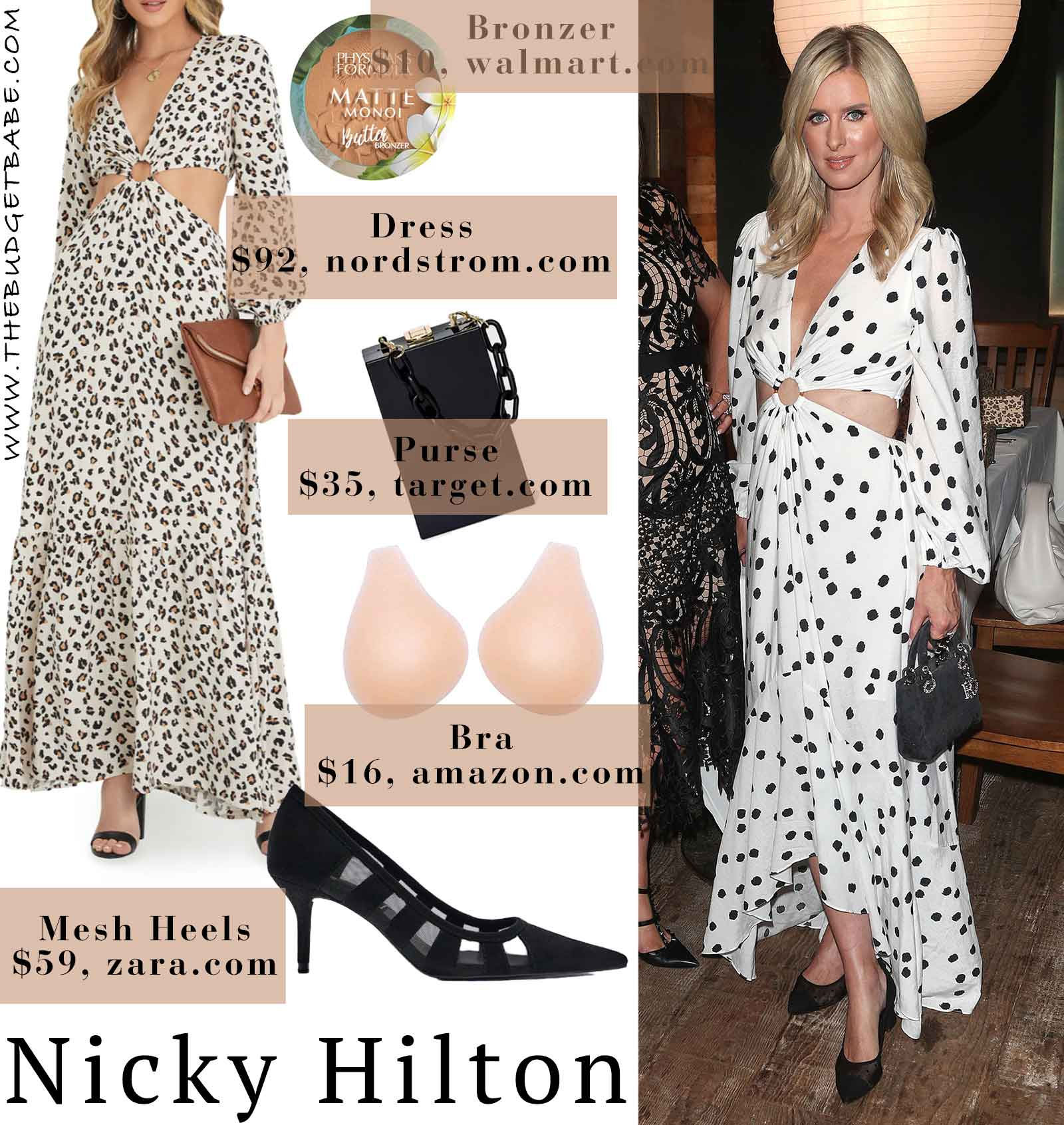 Nicky Hilton glows in a cut out maxi dress at her French Sole party.