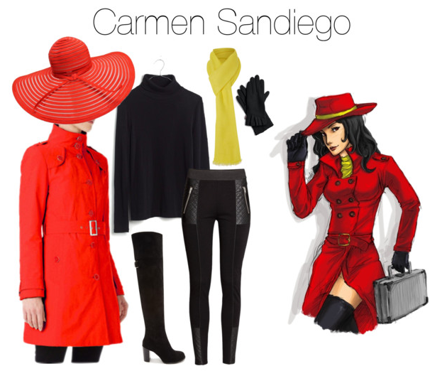 Last Minute Halloween Costumes Carmen Sandiego  sc 1 st  The Budget Babe & Cheap Chic Last-Minute Halloween Costume Ideas