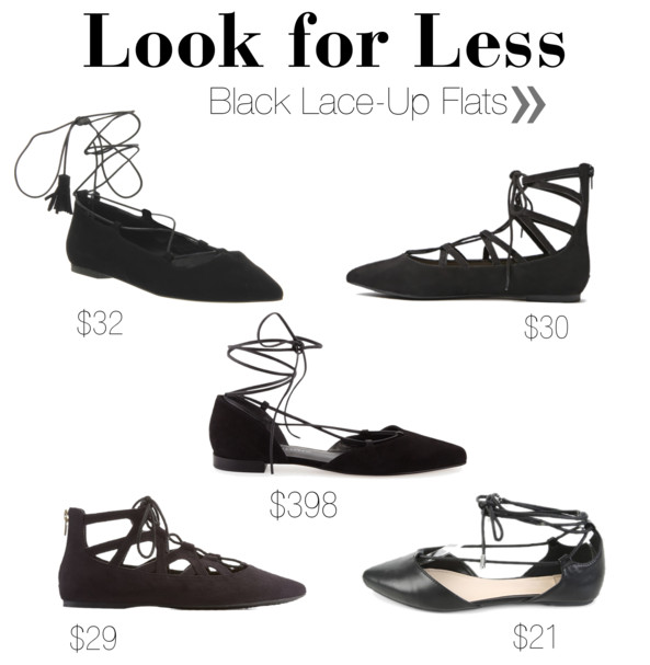 Black Strappy Flats for Less