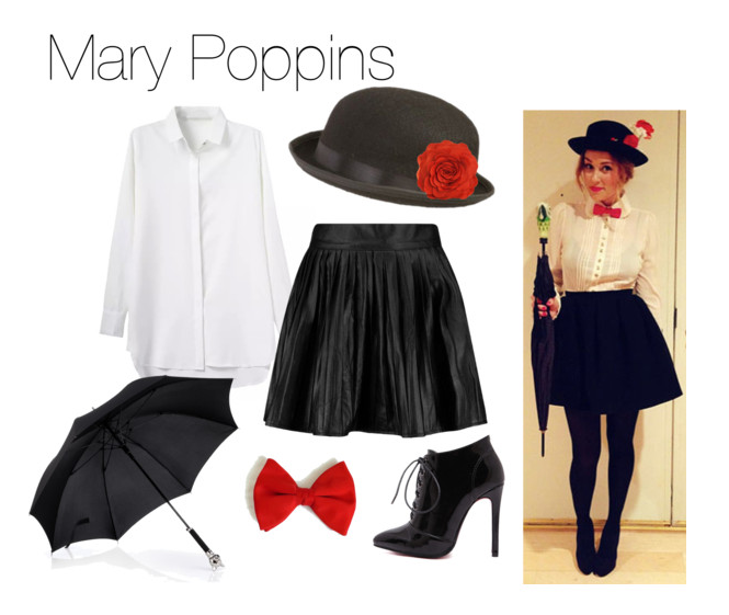Last Minute Halloween Costumes Mary Poppins  sc 1 st  The Budget Babe : mary poppins costume idea  - Germanpascual.Com