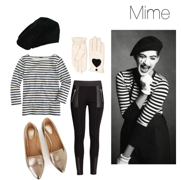 Last Minute Halloween Costumes Mime  sc 1 st  The Budget Babe & Cheap Chic Last-Minute Halloween Costume Ideas