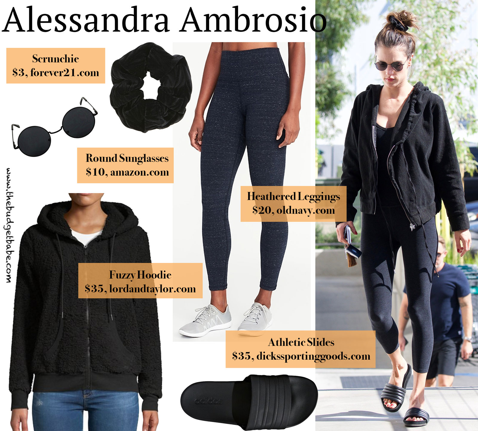 Alessandra Ambrosio Hoodie and Leggings