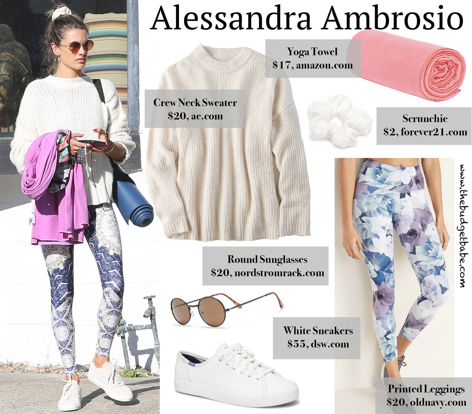 Alessandra Ambrosio Yoga Look for Less