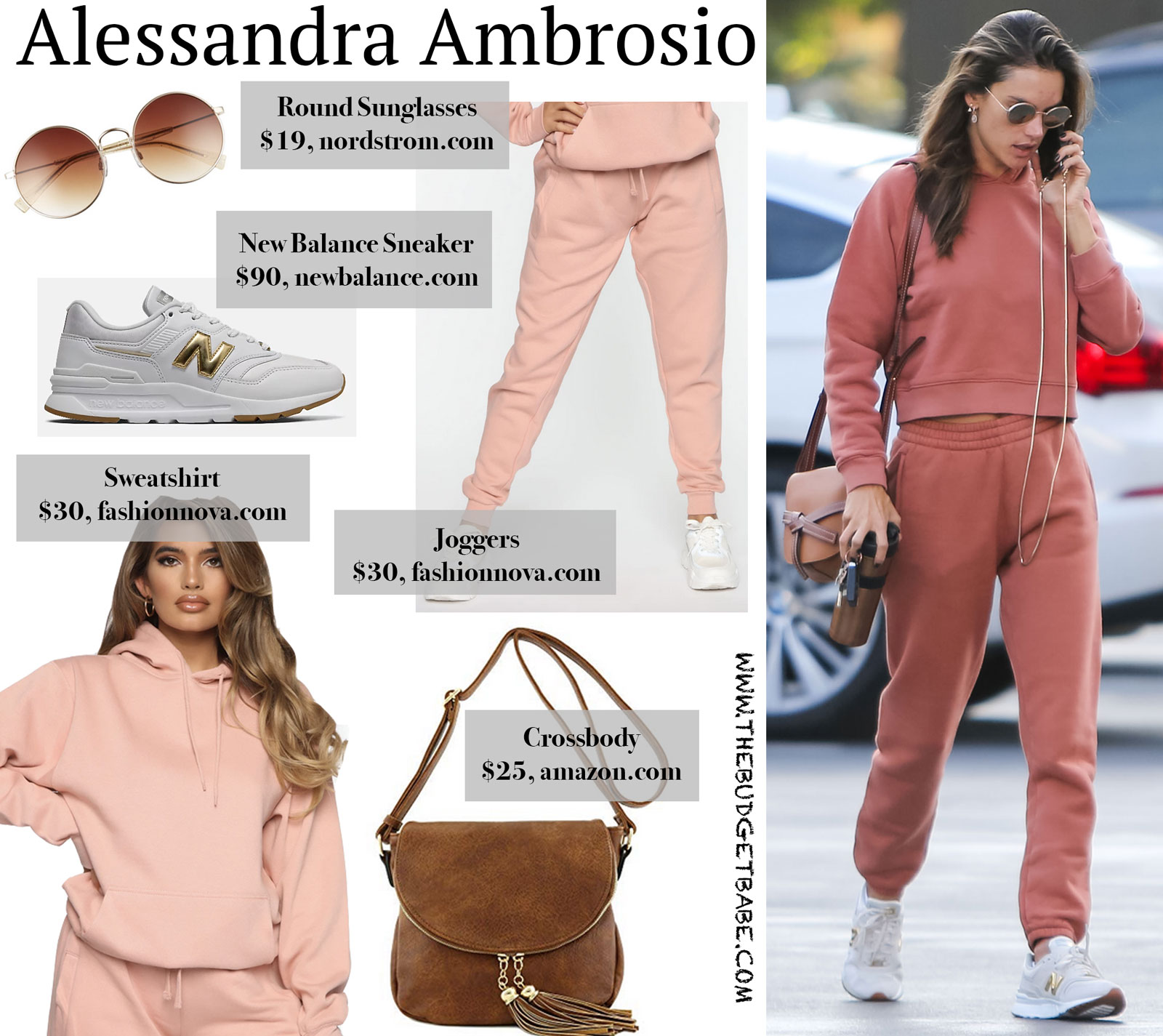 Alessandra Ambrosio Outdoor Voices Sweatsuit Look for Less