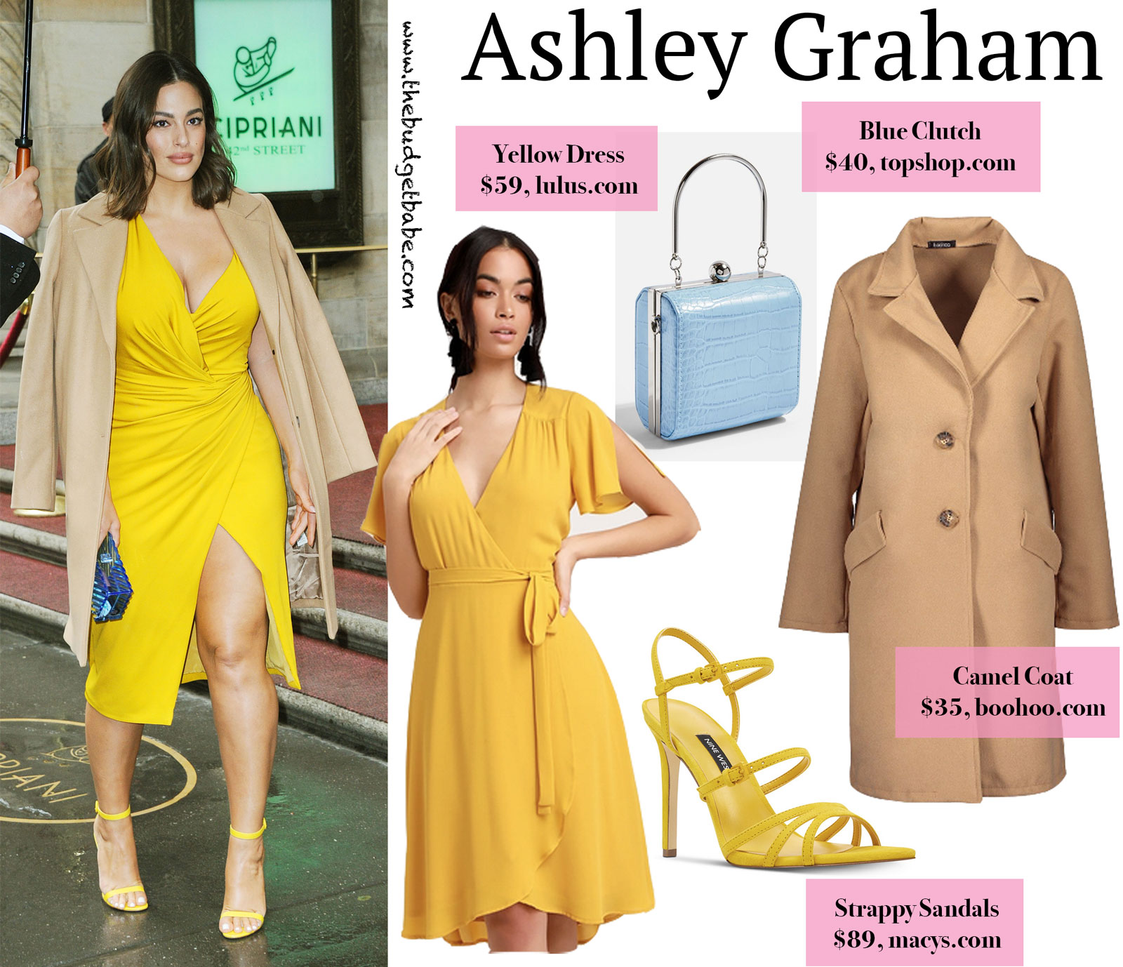 Ashley Graham Yellow Dress Look for Less