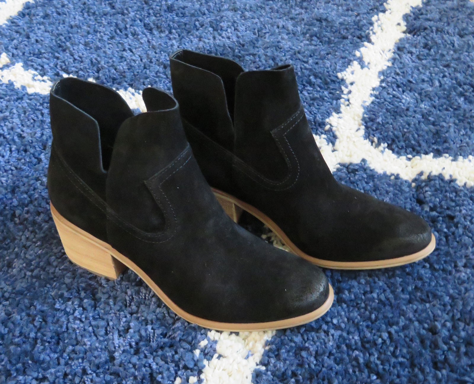 Brice Notched Bootie in Black