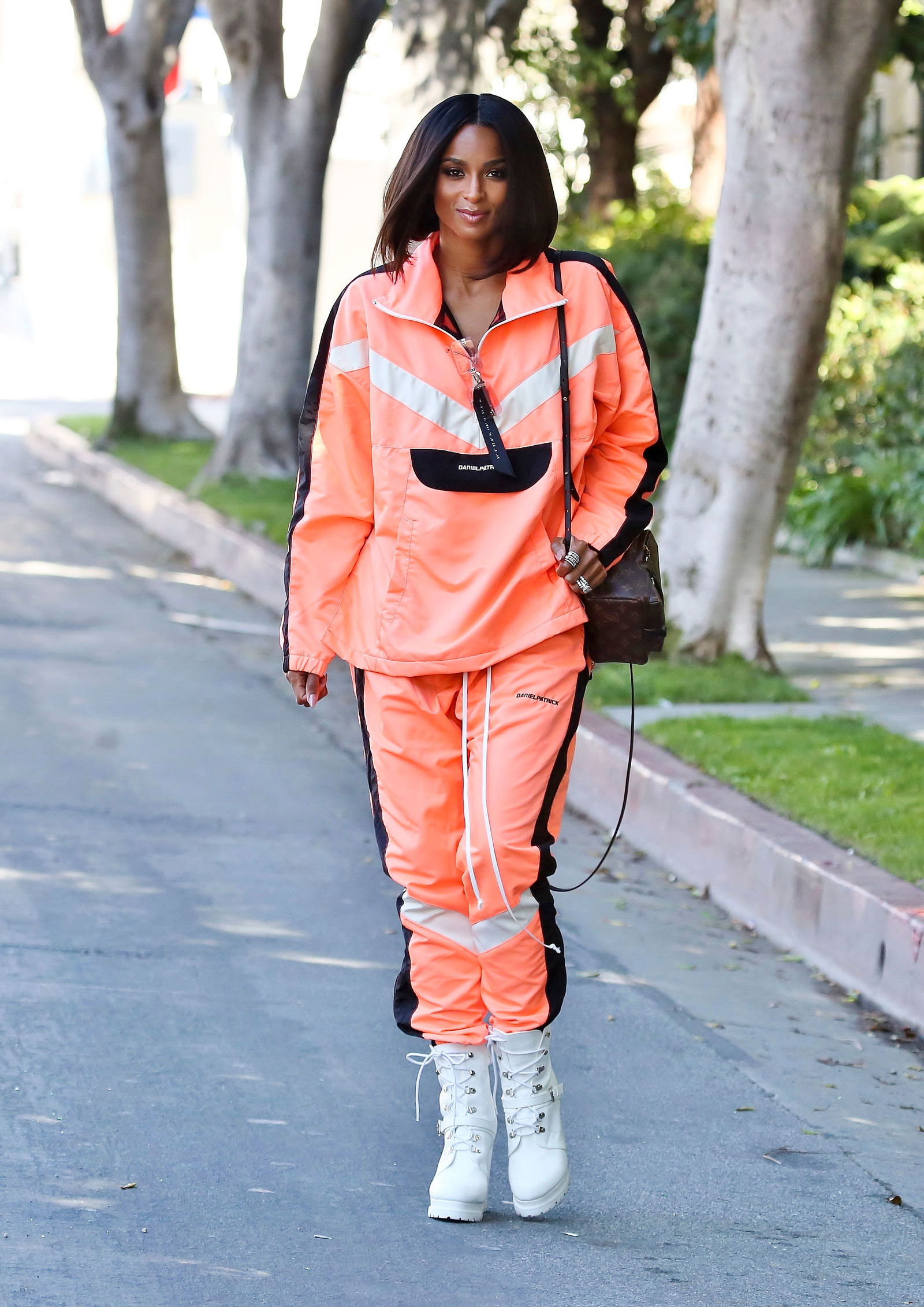 Ciara Orange Track Suit