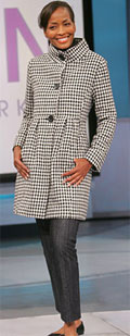 Bitten houndstooth coat